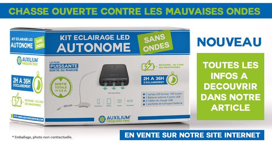 KIT ECLAIRAGE LED AUTONOME SANS ONDES